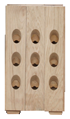 Wooden racks for sparkling wines